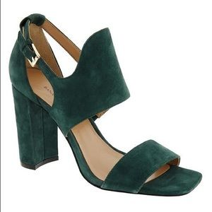 Banana Republic green suede heeled sandal